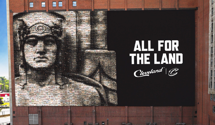 Clevelanders roast new replacement for iconic LeBron James banner
