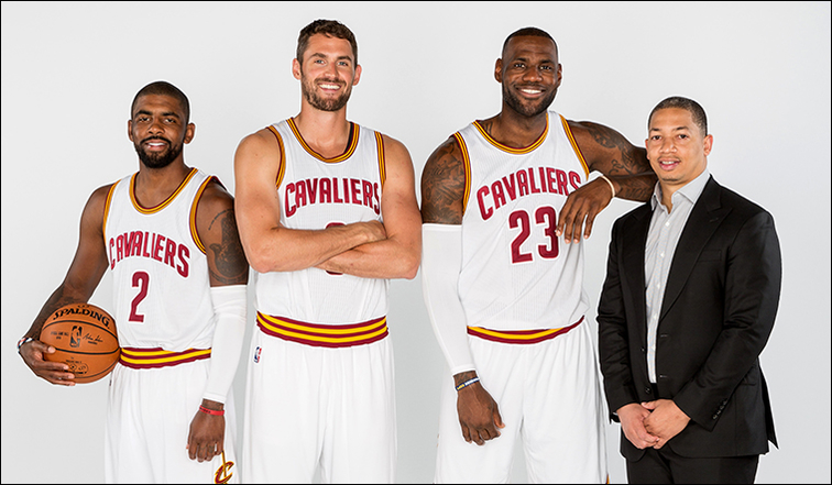 LeBron James + Kyrie Irving + Kevin Love + Tyronn Lue