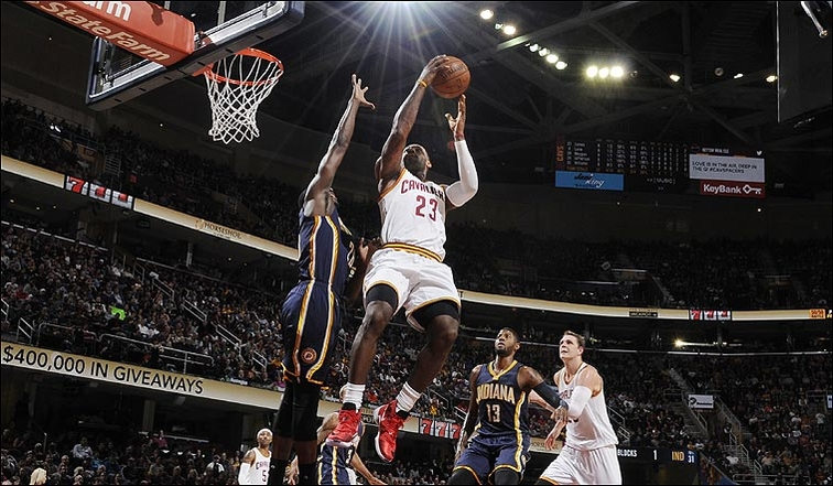 820470b2a4303 Cavs Outlast Pacers to Take Sixth Straight. LeBron ...
