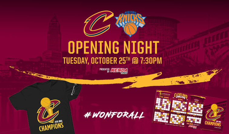 Cavs Wonforall Opening Night Fan Guide Cleveland Cavaliers