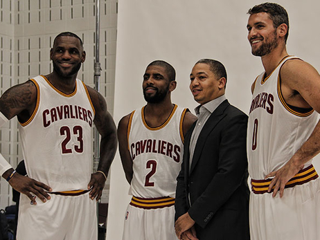 LeBron James + Kyrie Irving + Kevin Love