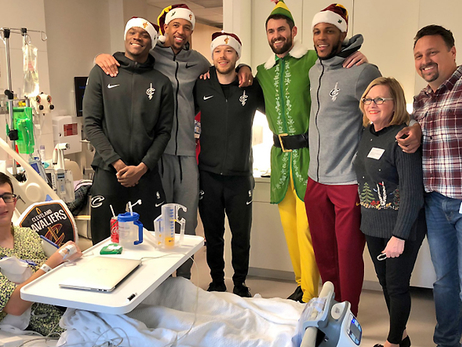 Cavs Bring Joy To the Worlds of Pediatric Patients