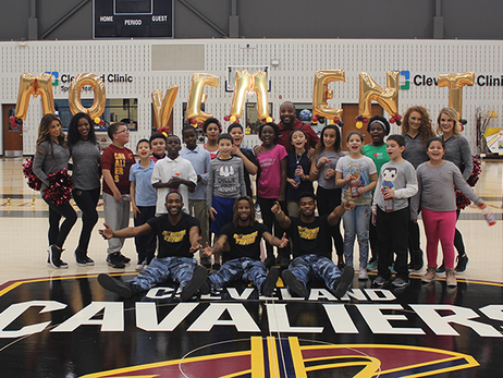 Fifth Graders Keep It Moving with Cavs