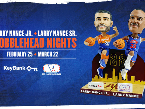 Two Special Bobblehead Giveaways Connect Generations of Cavaliers History