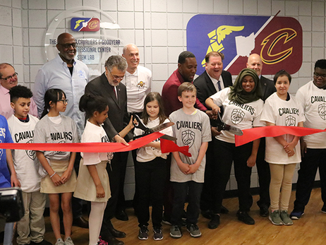 Cavs and Goodyear Open CMSD STEM Lab
