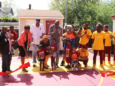 Cavs and Rust-Oleum Renovate Outdoor Court at Providence House