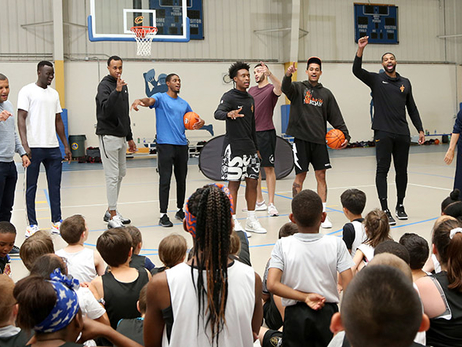 Team Makes Surprise Visit to Cavs Academy Summer Camp