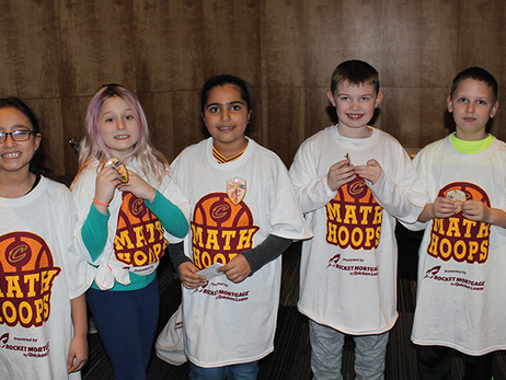 Students Learn Math with Cavs at Science Center