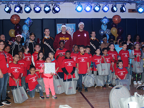 Cavs and Monsters Host Annual Toy Drive Party