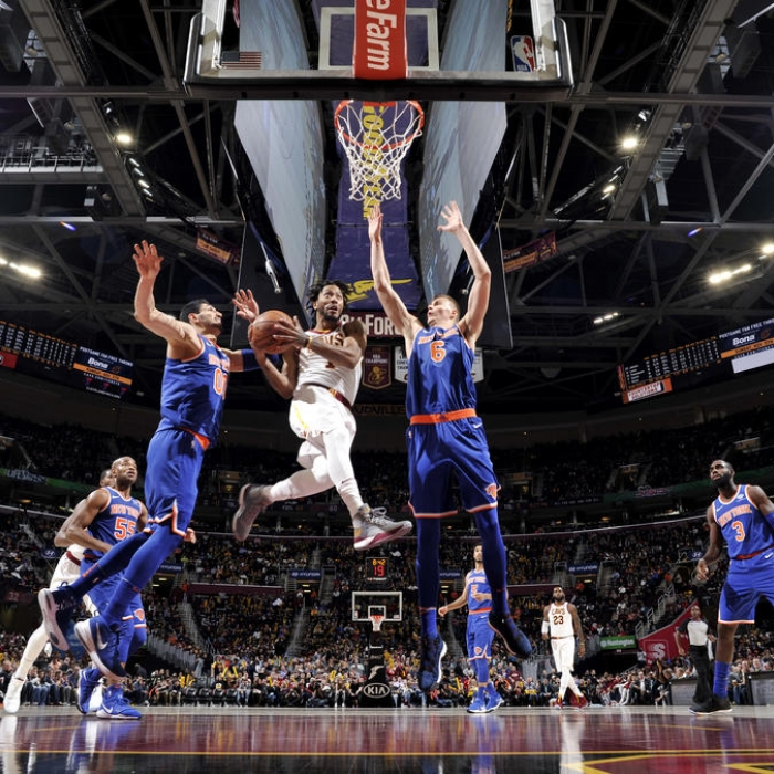 New York Knicks v Cleveland Cavaliers