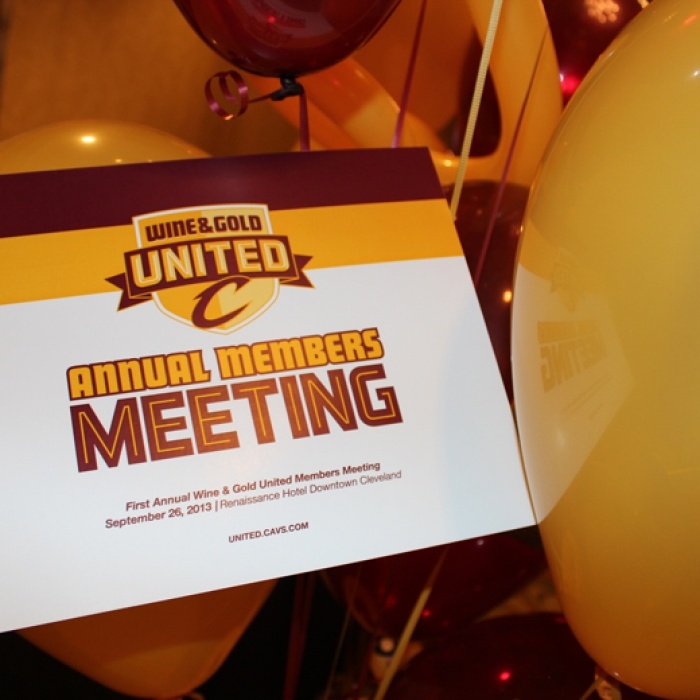 Wine and Gold United Members Meeting