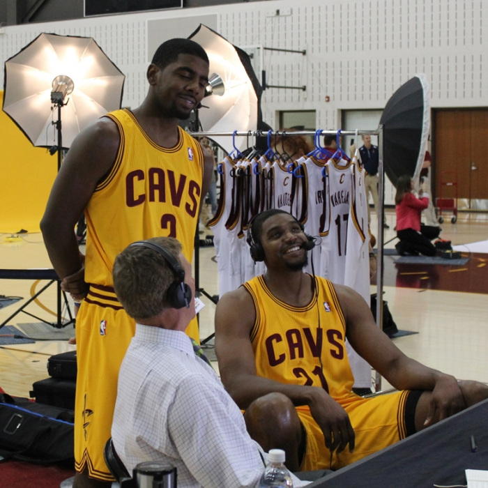 Kyrie Irving, Fred McLeod, Andrew Bynum