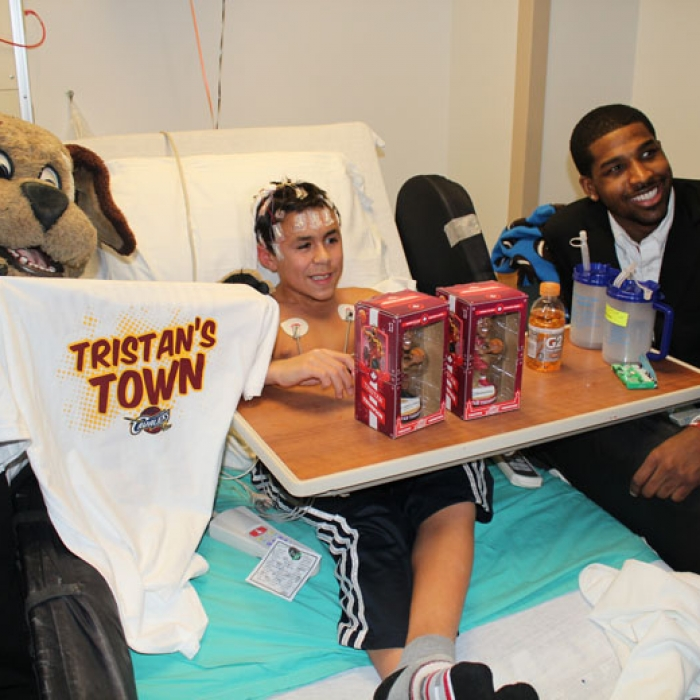 Tristan Thompson Cleveland Clinic Children's Hospital Visit
