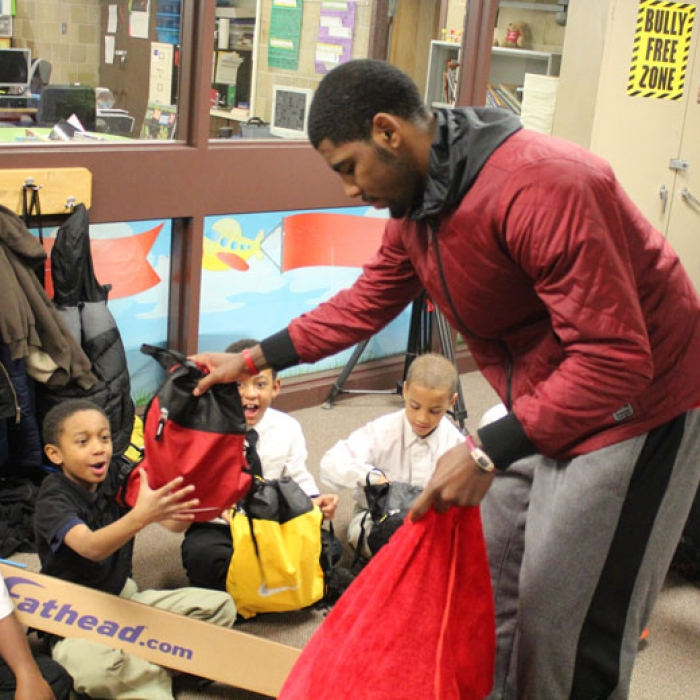 Kyrie Never Stops…Giving - December 20, 2012