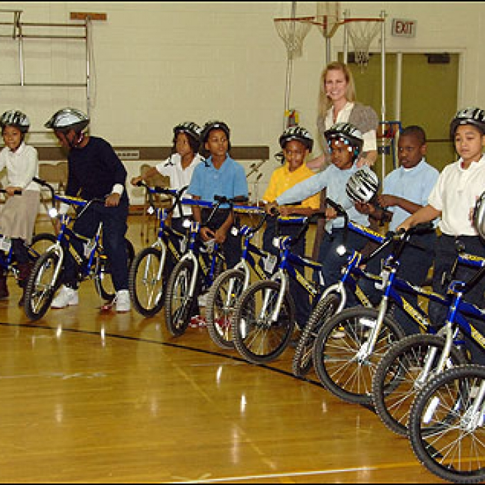 LeBron James Family Foundation Bike Giveaway