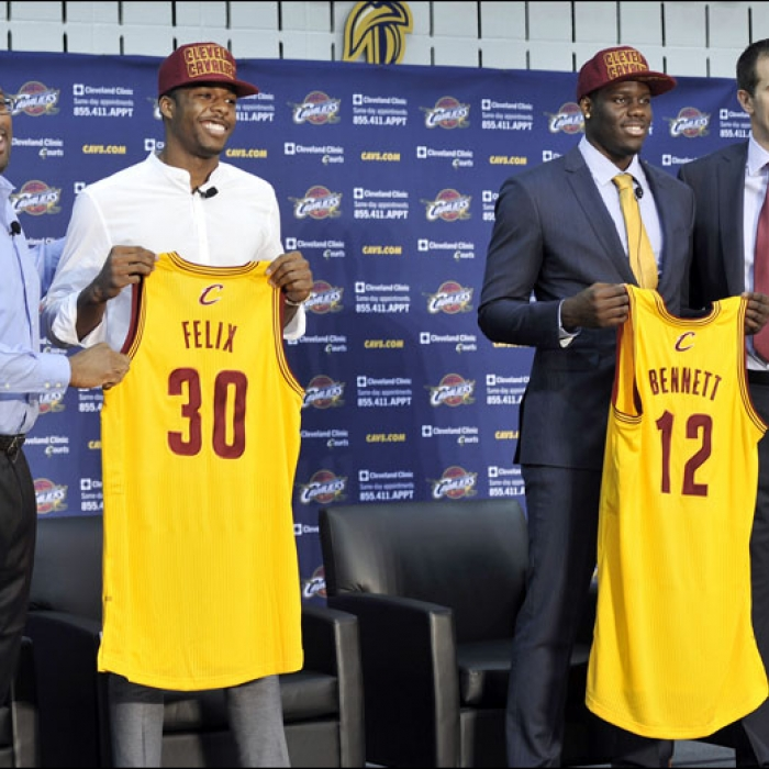 Newly acquired draft picks Carrick Felix and Anthony Bennett are introduced