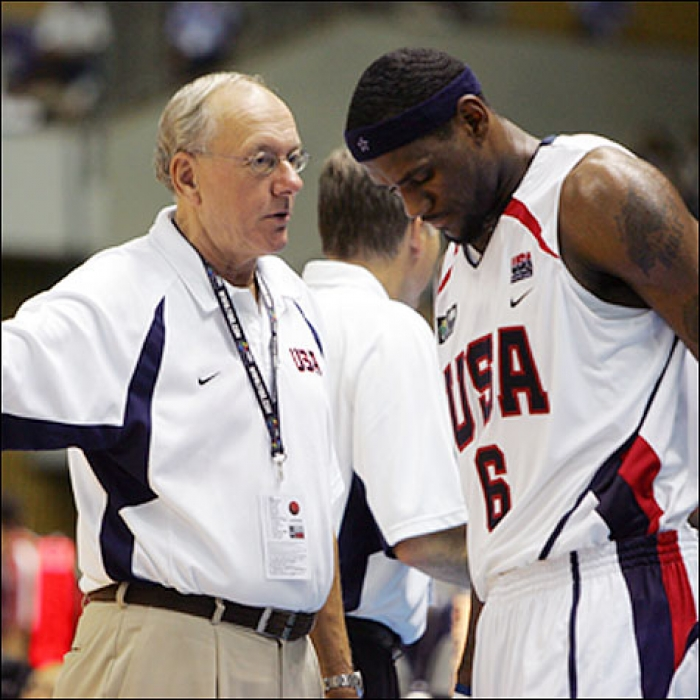 LeBron James with Team USA-China-August 20, 2006