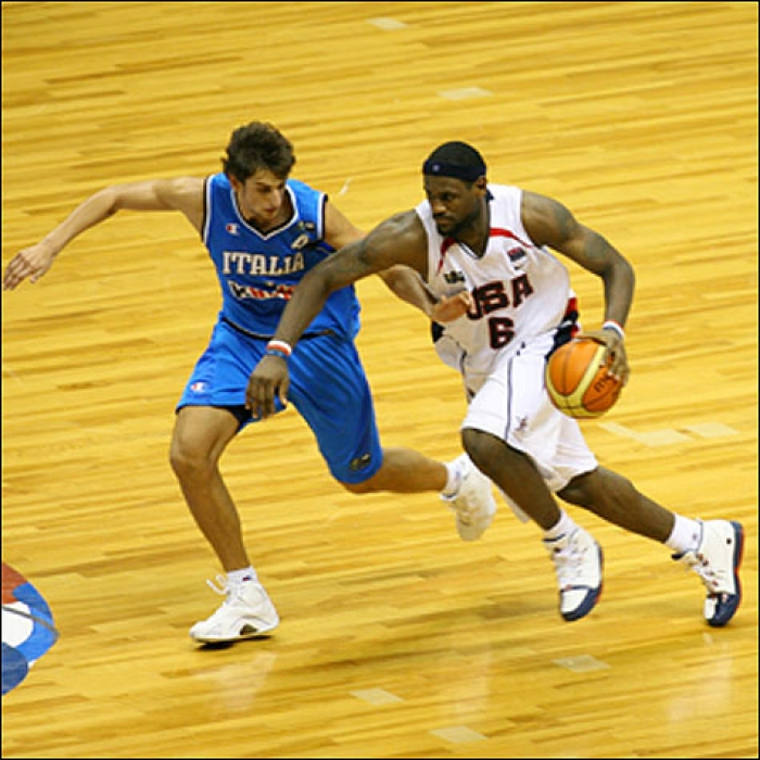 LBJ Team USA versus Italy-August 23, 2006