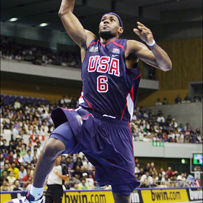 LeBron James with Team USA-Puerto Rico-August 19,