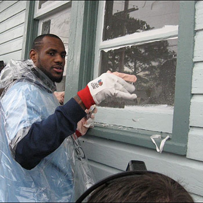 Cavaliers: LeBron James Assists at New Orleans NBA Cares