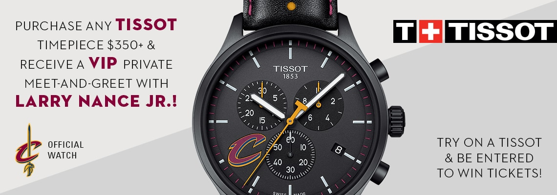 Jared and Cleveland Cavaliers Tissot TryOn Promotion Cleveland