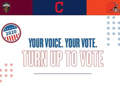 Cavaliers, Browns and Indians Encourage Clevelanders to Vote in PSA