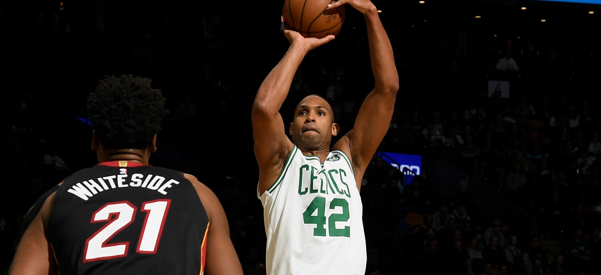 Al Horford takes a jumper over Hassan Whiteside