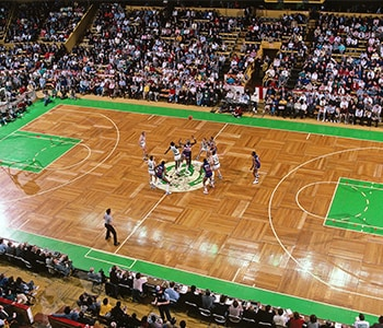 celtics center court logo is ugly needs a redesign realgm
