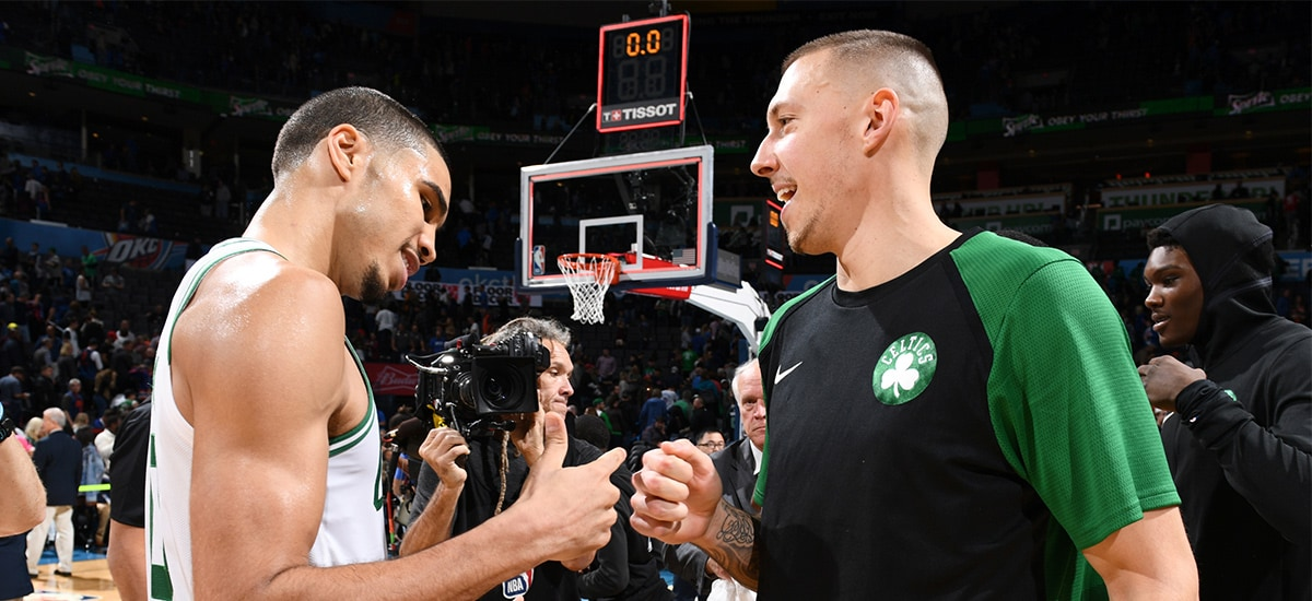 0a905ae5cd Theis Remains Optimistic After Tearing Plantar Fascia | Boston Celtics
