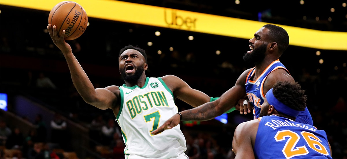Brown Returns with a Punch Leads C's to Blowout Win Over Knicks