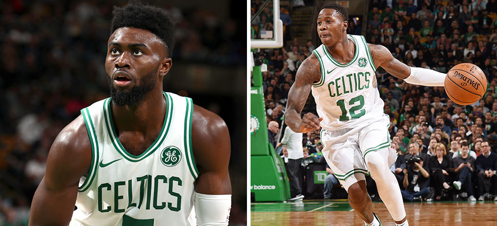 Jaylen Brown and Terry Rozier
