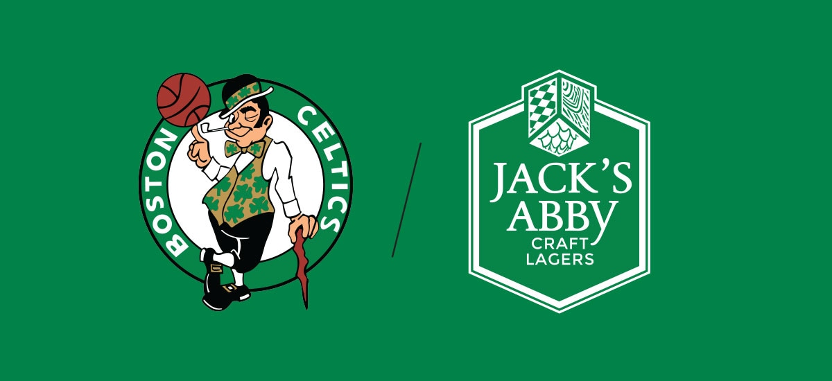 Boston Celtics and Jack's Abby Cobranded Logo