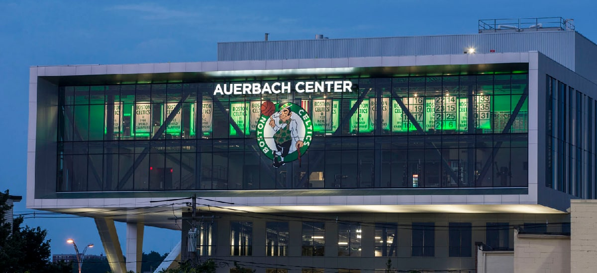 With Auerbach Center C's Now Own Practice Facility Supremacy in NBA