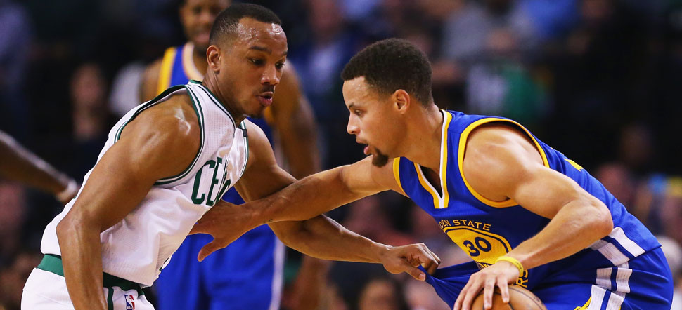 Avery Bradley defends Stephen Curry