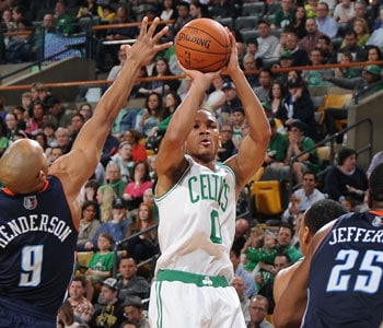 Avery Bradley takes a jumper against Washington