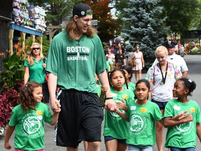 Kelly Olynyk at Canobie Lake Park