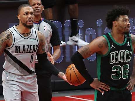 Marcus Smart Is Doing Quite a Bit of Talking with His Defense
