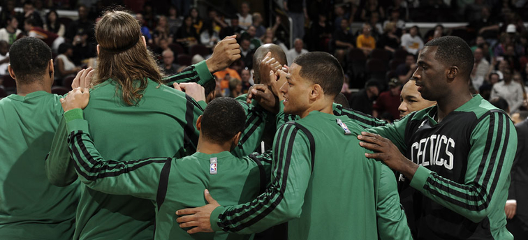 Celtics huddle