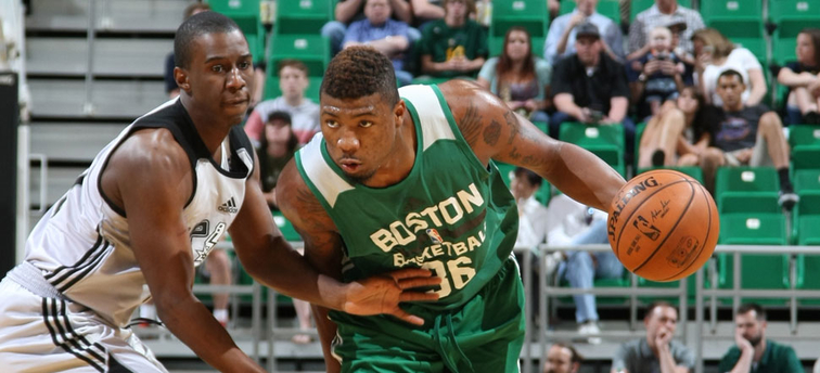 Marcus Smart against the Spurs in Salt Lake City