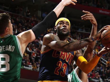 LeBron James against the Celtics
