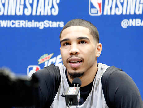 Tatum Thrilled to Play for Coach Kyrie in Rising Stars Challenge