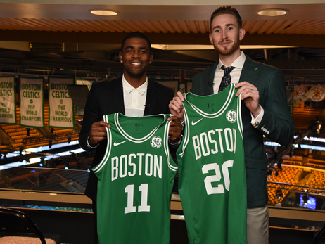 Photos: Celtics Welcome Irving, Hayward to Boston