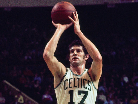 John Havlicek takes a free throw