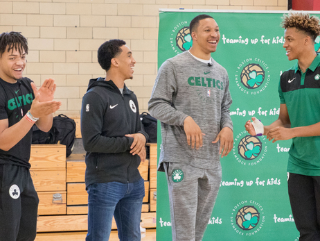 Day 1 with the Celtics Means Day 1 in the Community