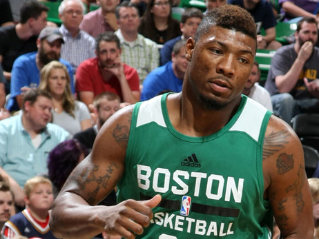 Marcus Smart during his first game in the Utah summer league