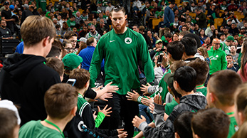 Aron Baynes in the High Five Tunnel