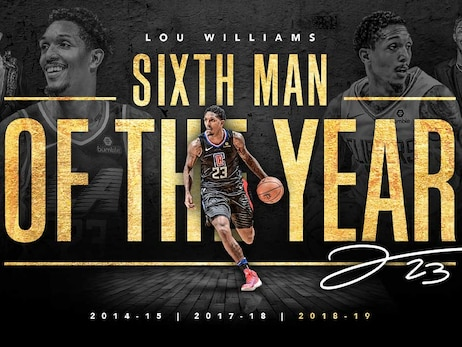 Lou Williams Wins The 2018-19 NBA KIA Sixth Man Of The Year Award