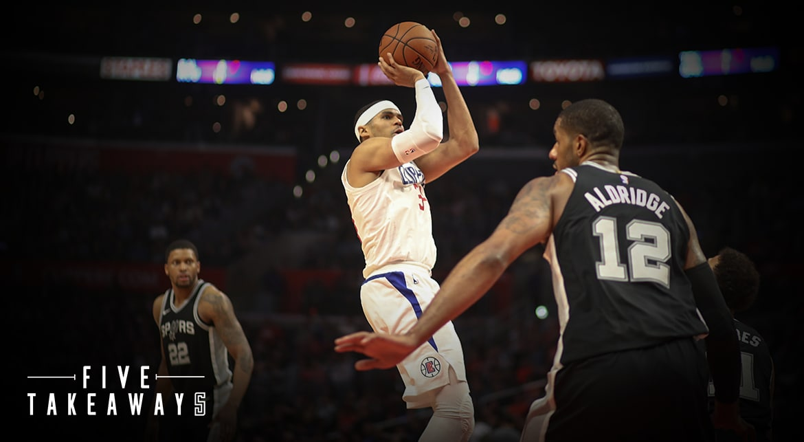 Five Takeaways: Clippers rally from 19-down to beat Spurs keep playoff hopes alive