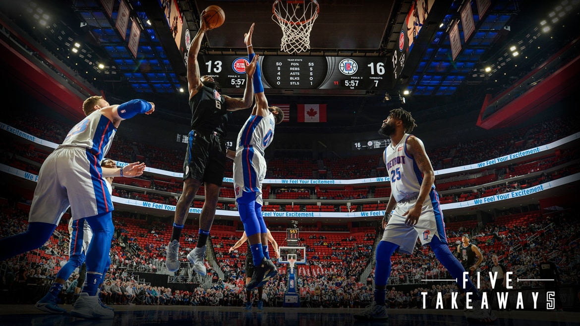 Five Takeaways  Clippers Surge Past Pistons in Detroit  f47f88ab1