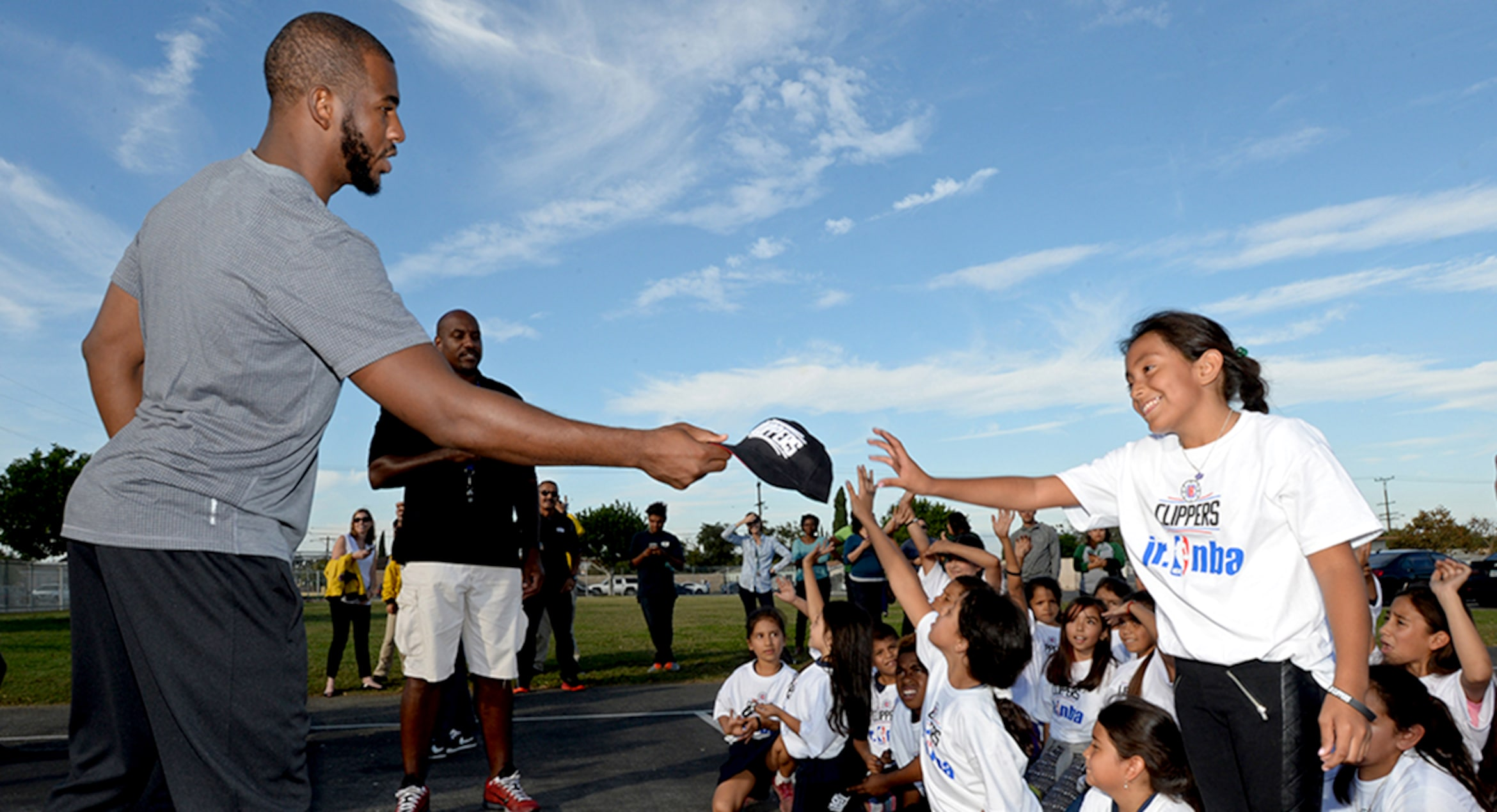 Image of Chris Paul during Youth Community Event in Los Angeles, CA | LA Clippers